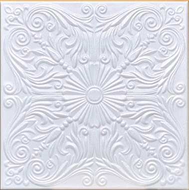 "50pc of Astana White (20""x20"" Foam) Ceiling Tiles - Covers About 135sqft"
