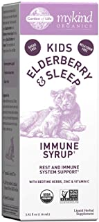 Garden of Life Elderberry Immune Support for Kids with Zinc, Vitamin C - mykind Organics Kids Elderberry & Sleep Immune Sy...