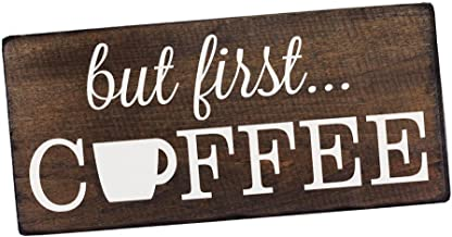Elegant Signs But First Coffee Wall Decor Decoration Sign for Kitchen Art or Office Art..