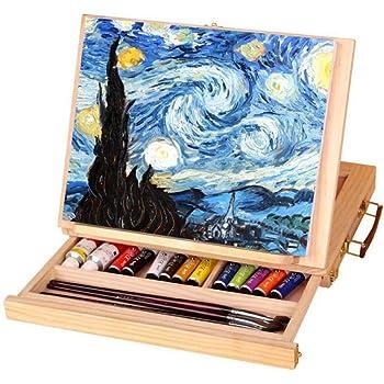 Dream-cool Caballete de madera ajustable para escritorio con cajón ...