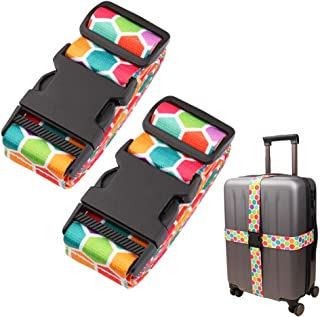 Adjustable Travel Luggage Strap Suitcase Belt Travel Bag Accessories 1.96 in W x 6.23 ft L(2Pack)