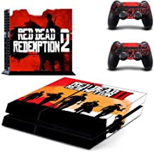 Red Dead Redemption PS4 Skin - Vinyl Skin Sticker Decal Cover Protective, Skin PS4 Console and 2 PS4 Controller Skin by Mr Wonderful Skin