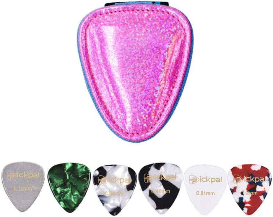 ABMBERTK Coloful Guitar Picks Holder with Bag 6pcs Case Max 66% OFF Cellulo outlet