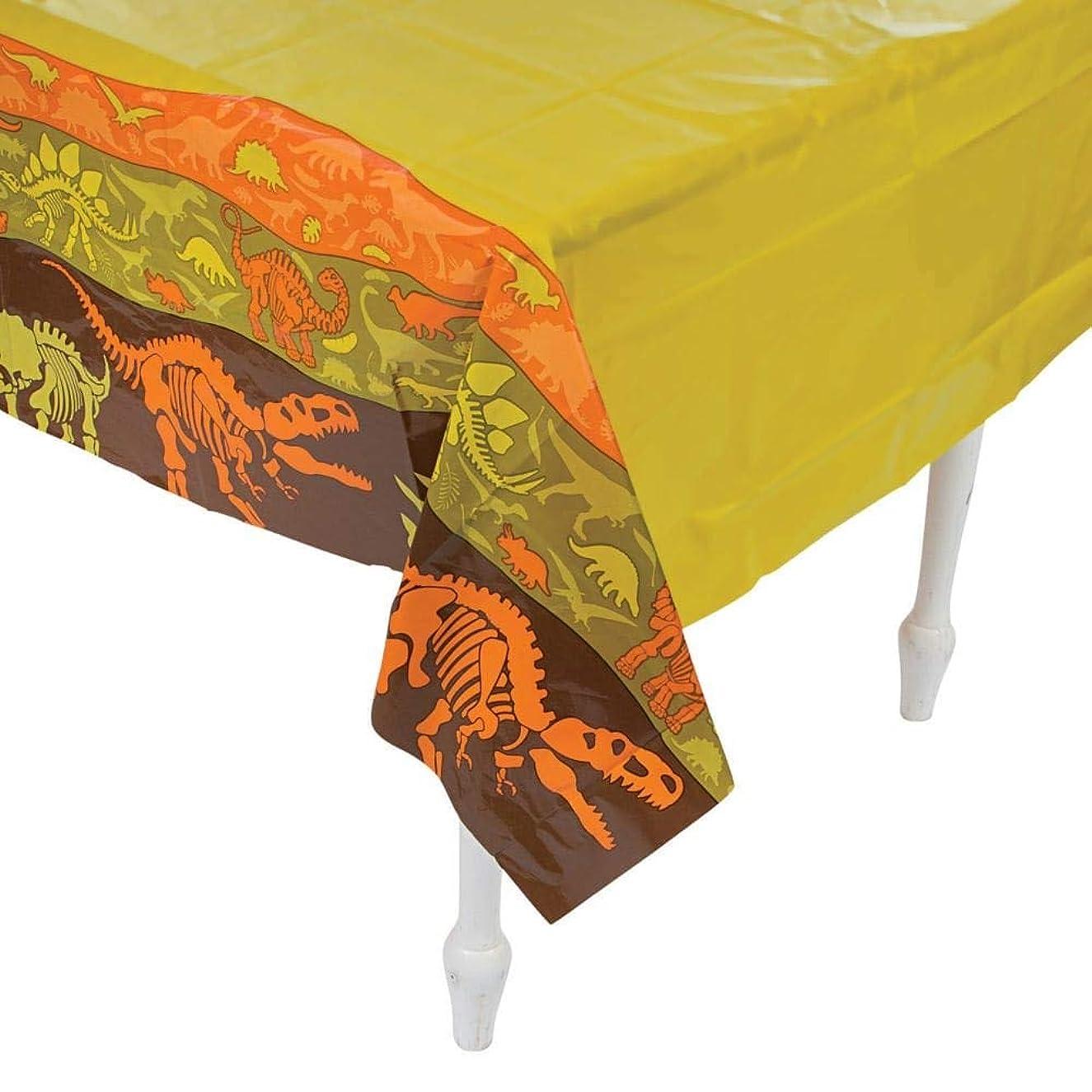 Fun Express Plastic Dinosaur Dig Tablecloth - 54