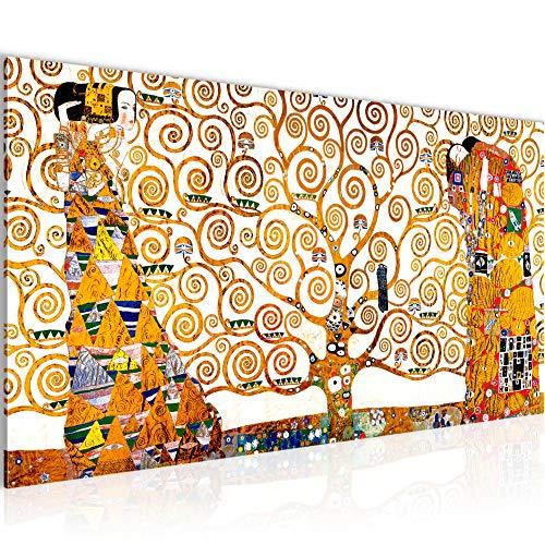 Estilo Abstracto arbol de la Vida Gustav Klimt dekoarte 429 Cuadro moderno en lienzo 180x85x3cm naranja 5 piezas