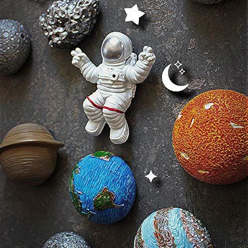 Ímãs de geladeira criativos 3D, ímãs da série espacial, astronauta/ao redor/Terra/sol/saturno/diâmetro/júpiter/meteorito, adesivo magnético, para ímãs de geladeira 3D criativos, decoração de casa, Sailsbury