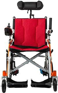 BYCDD El Transporte de Eléctrica Power Chair, Portátil Silla de Ruedas Silla de Transporte Seguridad Transportar Sillas De Ruedas Motorizadas para una fácil Transferencia,Red