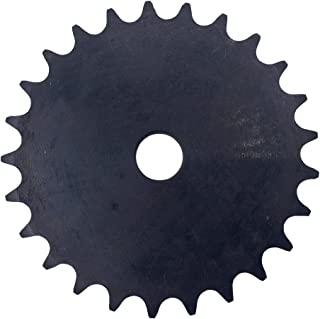 """KOVPT # 40 Chain Plate Sprocket 30 Teeth Bore 0.594"""" Pitch 0.5 Inches OD 5.06"""" Carbon Steel Black 1Pcs"""