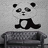 sanzangtang Lustige lächelnde Panda Vinyl wandaufkleber Schlafzimmer Kindergarten entfernbare wandtattoo kinderzimmer Dekoration wandmalerei Vinyl Kunst Aufkleber 56x58 cm