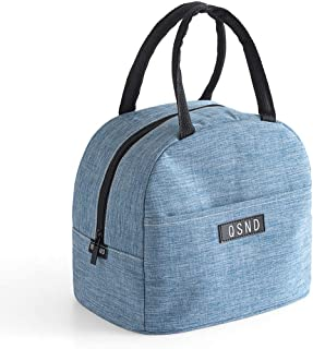 FairOnly Waterproof Oxford Cloth Aluminum Foil Insulated Tote Lunch Bag Blue
