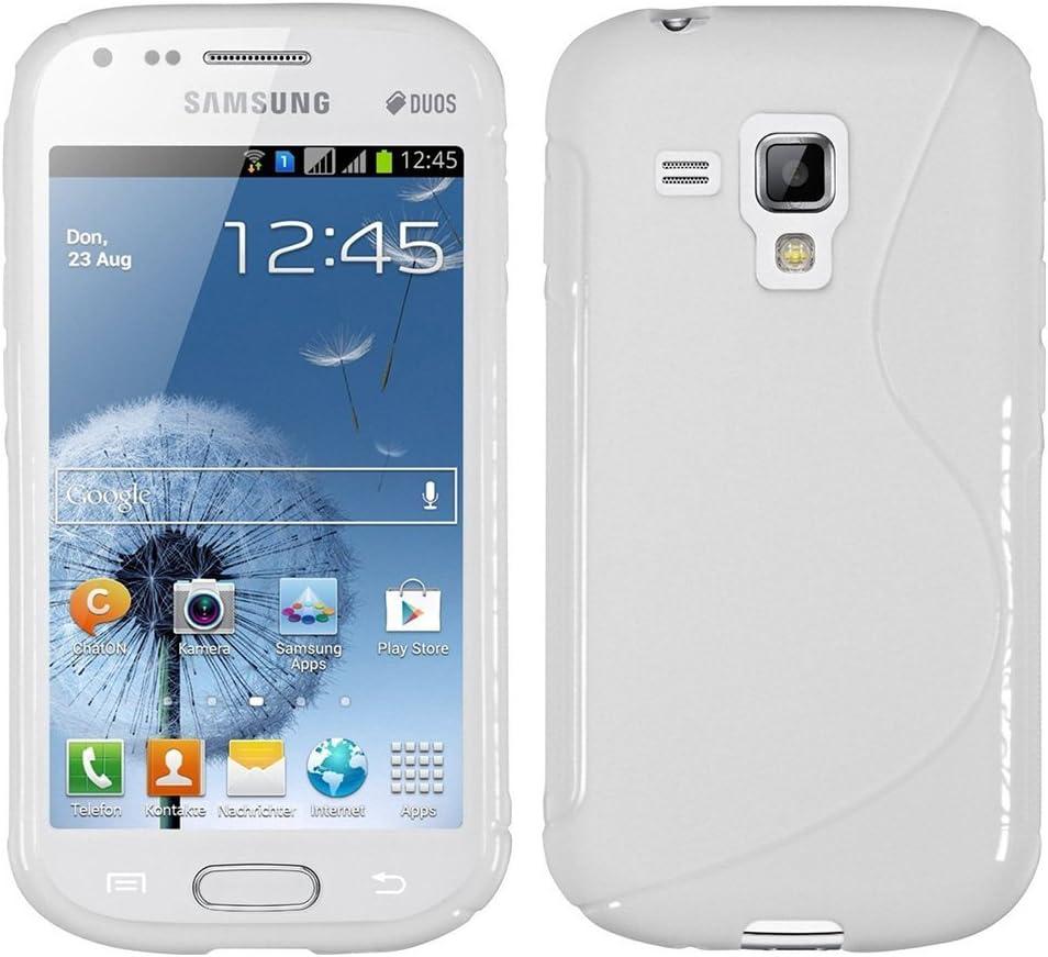 HCN PHONE Samsung Galaxy Trend S7560 Étui S-Line TPU Gel Silicone Coque Souple pour Samsung Galaxy Trend S7560 - Blanc