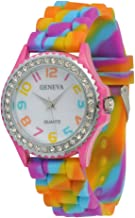 Geneva Rainbow Silicone Watch Fine Selected Quality USA Seller