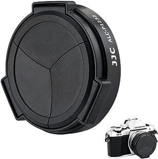 Auto Lens Cap JJC Camera Automatic Lens Cap Cover Protector for Panasonic Lumix G Vario HD 12-32mm F3.5-5.6 Mega OIS Lens with 3 Auto Leaves -Black
