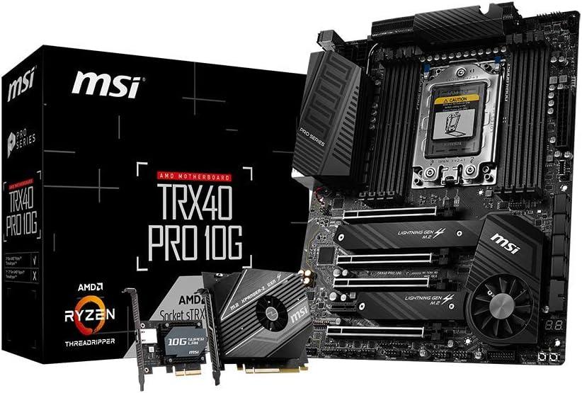 MSI Placa base TRX40 PRO 10G (AMD sTRX4, PCIe Gen4, M.2, USB3 ...