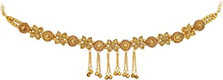 Fresh Vibes Golden Flowers Design Chain Traditional Kamarbandh for Ladies - Fancy Wedding Party Wear Heavy Look Adjustable...