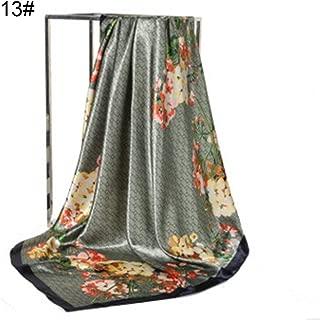 Gloa Fashion Floral Print Women's Soft Square Scarf Decorative Kerchief Neck Wrap - 3#