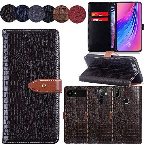 QHTTN Muster Premium Braun Leder Tasche Hülle Für Elephone S1 5