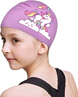 unicorn swim cap