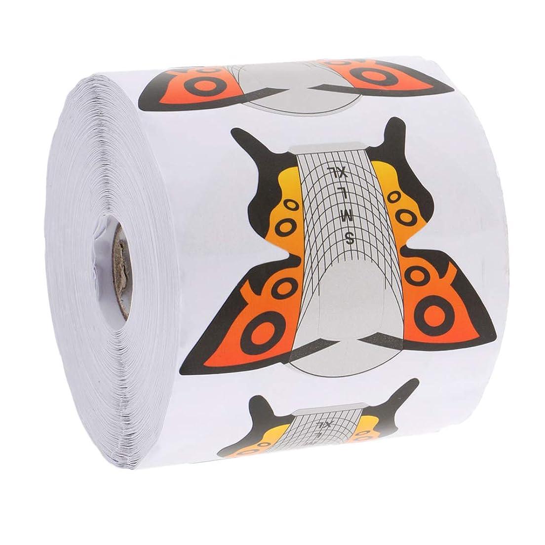 多くの危険がある状況特別な人生を作るKESOTO ネイルアート チップ フォーム DIY 蝶 2タイプ選べ - 約500枚