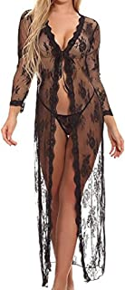 EVERICH Womens Long Sleeve Transparent Lace Maxi Dress for Maternity Photo