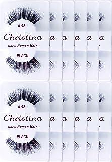 12packs Eyelashes - #43 by Christina