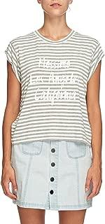 Mossimo Women's La Cali Roll Sleeve Top, Silver
