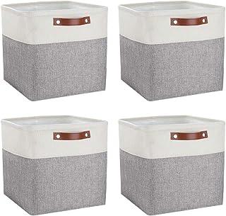 Mangata Cube boîte de Rangement Lot de 4, Panier de Rangement en Tissu, 30 cm pour Chambre à Coucher, Salle d'artisanat, p...