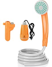 Z ZANMAX アウトドアシャワー USB充電式 ポータブルシャワー 携帯便利 電動シャワー 簡易シャワー 取り付け簡単 洗車 キャンプ 海水浴 ペットシャワー 木や花への水遣り 旅行 レジャー 非常時 ポンプシャワー 水道代節約 防災用品 屋内/屋外 1年保証付き