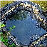SSYBDUAN HDPE Gummi-Teichfolie für Fischteich, Gartenteich, Landschaftsbau, Pool, dick, strapazierfähig, wasserdicht, Membran-Innenfutter, 6 m, 8 m, 7 m, 9 m, 10 m Größen (Farbe: 40S,...