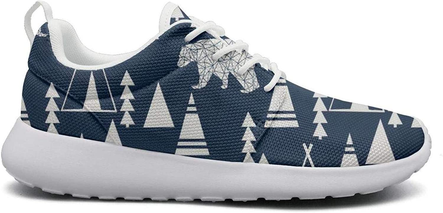 Women Fashion Lightweight shoes Sneakers Teepee Bear Forest Breathable Running Lace-Up