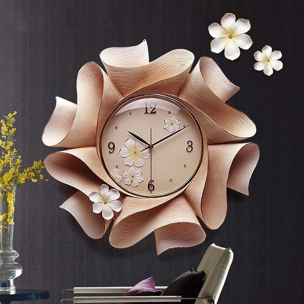 Statues Wholesale Hand-Painted Flowers Mute Charlotte Mall Wall Ame Modern Clock European