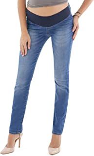 Firenze Straight Leg, Low Rise Maternity Jeans - Made in Italy