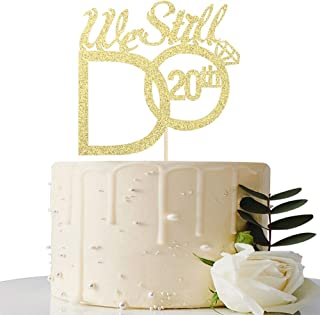 MaiCaiffe Gold We Still Do 20th Cake Topper - 20th Vow Renewal Wedding Anniversary Party Decoration