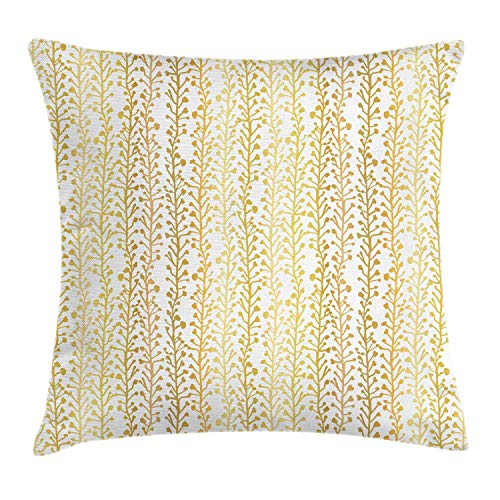 ZUL 3D Print Throw Pillow Covers,Tree Branches Silhouette Growth of Woodlands Foil Flourish Design,Decorative Square Cushion Covers Case for Sofa Couch Home Decor Thanksgiving Christmas