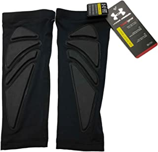 UNDER ARMOUR MENS GAME DAY PADDED FOREARM SHIVER BLACK PAIR
