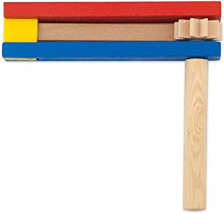 Polish Traditional Wooden Toy Soccer Clacker Rattle perfect for Children & adult Fans. Made of light colored wood and painted Prime colors blue, yellow & red. Toy measures approx. 5.0
