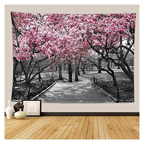 Nostalgie Tapiz Pared Cherry Blossoms Fantasy Tapices Tapicura Hippie Dormitorio Decoración Psicodélico Tapicería Macrame Mandala Tapicería Colgar en la Pared (Color : 20, tamaño : 1500MMx1300MM)
