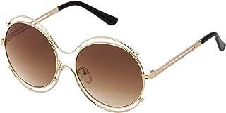 Sky Vision Panto Sunglasses for Women, Brown Lens, 48904