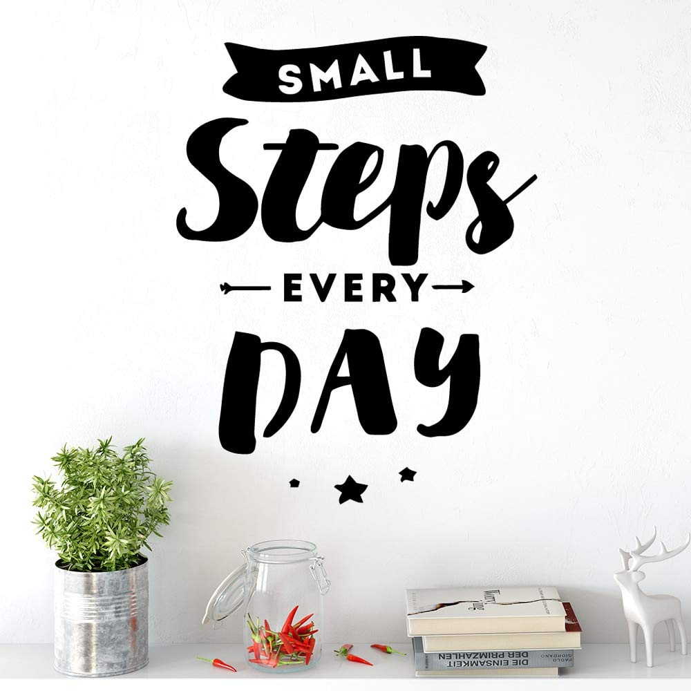 Ajcwhml DIY Steps Day Wall Art Decal Pegatinas de Pared Material ...