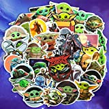 XCVBN Baby Yoda The Mandalorian Stickers For Laptop Skateboard Home Decoration Car Scooter Decal 50Pcs