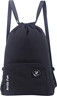 Arctic Fox 15 Liters Draw String Bag Black Backpack