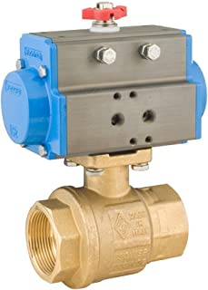 Bonomi 8P0080 - Brass Ball Valve with Double Acting Pneumatic Actuator - Connection 1/4