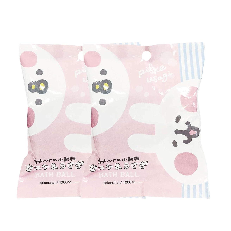 化学薬品スワップ天皇ピスケとうさぎ 入浴剤 バスボール 2個セット おまけ付き サボンの香り 50g ABD-044-001