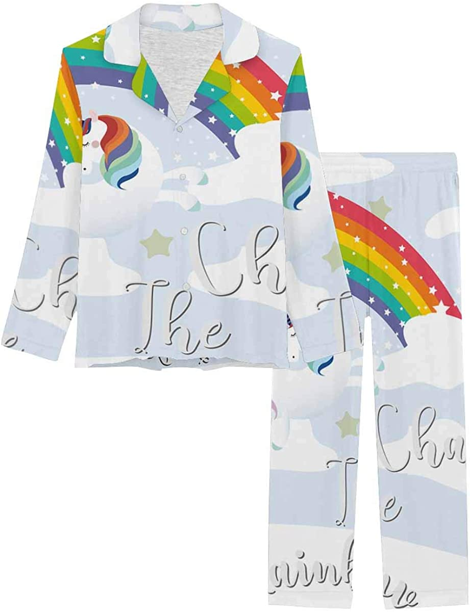 InterestPrint Lowest price challenge Women's Pajamas Set Button Down with Sleepwear Lon Dealing full price reduction