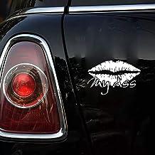 12.3x8cm sexy lip kiss my ass silhouette etiqueta engomada popular del coche del estilo de la moda para la etiqueta engomada de la ventana del ordenador portátil del coche