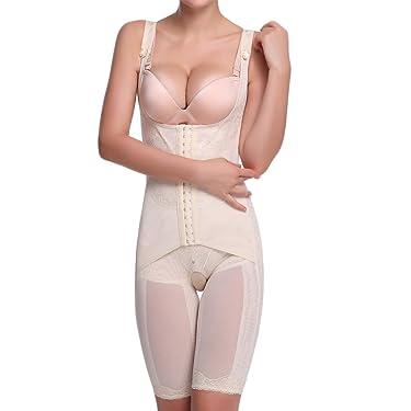 Shymay Women's Full Body Shaper Waist Cincher Thigh Reducer Bodysuit Shapewear