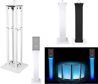 (1) Rockville White Adjustable Totem Speaker Stand For Cerwin Vega CVA-28X