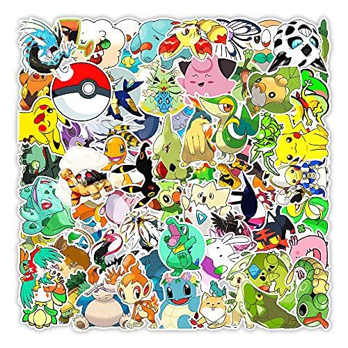CHUDU Anime Pokemon Graffiti Adesivi Skateboard Telefono Bollitore Tablet Pc Adesivi decorativi Commercio all'ingrosso 100 pezzi