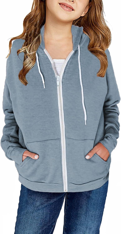 Dokotoo Girls Phoenix Mall Japan Maker New Zip-Up Hoodies Sweatshirts Long Fall Sleeve Hooded