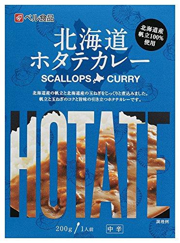 ベル食品 北海道ホタテカレー中辛 200g×5箱
